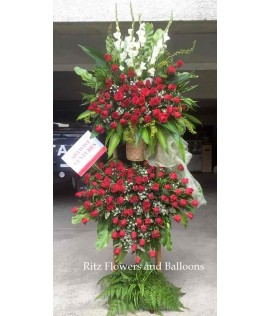 Red Roses Floral Stand