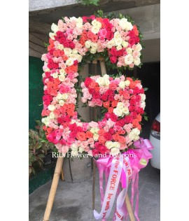 Letter Standee - All Roses