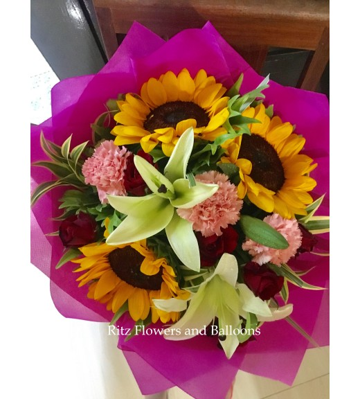 Assorted Flowers with Sunflowers